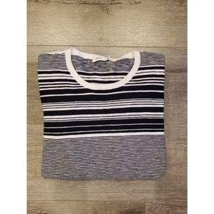 VINCE | Striped Crew Neck Pullover